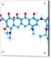 Tigecycline Antibiotic Molecule Acrylic Print
