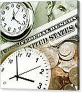 Time Is Money Concept Acrylic Print