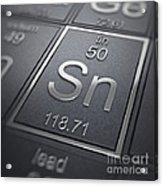 Tin Chemical Element Acrylic Print