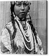 Tlakluit Indian Woman Circa 1910 Acrylic Print by Aged Pixel