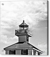 Top Of The New Canal Lighthouse - Bw Acrylic Print