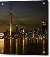 Toronto Evening Sky Line Panorama Acrylic Print