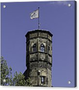 Tower And Flag Cologne Germany Acrylic Print