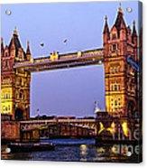 Tower Bridge In London At Dusk Acrylic Print by Elena Elisseeva