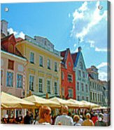 Town Square In Old Town Tallinn-estonia Acrylic Print