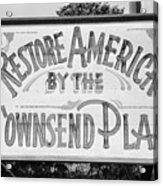Townsend Plan, 1939 Acrylic Print
