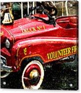 Toy Fire Truck Acrylic Print by Bobbi Feasel
