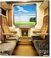 Travel In Comfortable Train. Acrylic Print