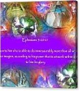 Treasures Of Heaven Acrylic Print
