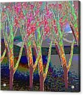 Trees Around Faal Season  Digitally Painted Photograph Taken Around Poconos  Welcome To The Pocono M Acrylic Print