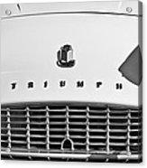 Triumph Tr3 Grille Emblem Acrylic Print
