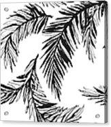 Tropical Jungle Floral Seamless Acrylic Print
