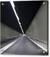 Tunnel With Light Acrylic Print