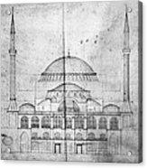 Turkey: Hagia Sophia, 1830s Acrylic Print