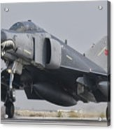 Turkish Air Force F-4 Phantom Landing Acrylic Print