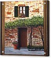 Tuscan Casa Montepulciano Acrylic Print