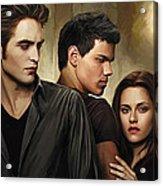 Twilight  Kristen Stewart And Robert Pattinson Artwork 2 Acrylic Print