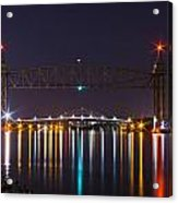 Two Bridges At Night Acrylic Print