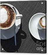 Two Cups Of Coffee Acrylic Print