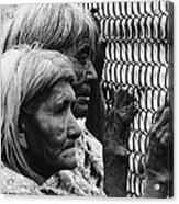 Two Elderly Apache Women Labor Day Rodeo White River Arizona 1969 Acrylic Print