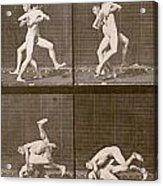 Two Men Wrestling Acrylic Print
