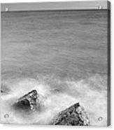 Two Stones Mono Acrylic Print