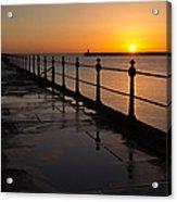 Tynemouth Pier Sunrise Acrylic Print