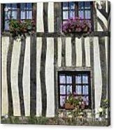 Typical House  Half-timbered In Normandy. France. Europe Acrylic Print