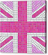 Union Jack Pink Acrylic Print by Jane Rix