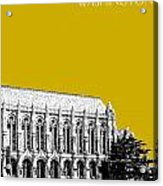 University Of Washington - Suzzallo Library - Gold Acrylic Print