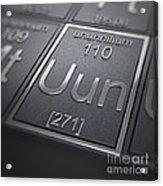 Ununnilium Chemical Element Acrylic Print
