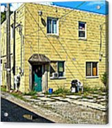 Upstairs Apartment For Rent Acrylic Print by MJ Olsen