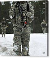 U.s. Army Soldier Conducts A Dismounted Acrylic Print