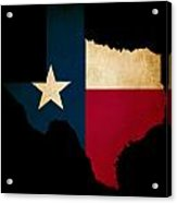 Usa American Texas State Map Outline With Grunge Effect Flag Acrylic Print