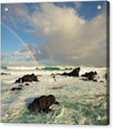 Usa, Hawaii, Rainbow Offshore Acrylic Print