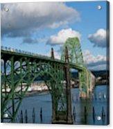 Usa, Oregon, Newport, Us 101 Bridge Acrylic Print
