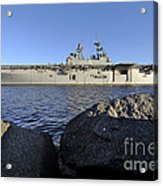 Uss Bataan Arrives At Naval Station Acrylic Print