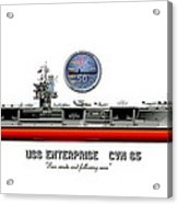 Uss Enterprise Cvn 65 2012 Acrylic Print by George Bieda
