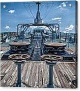 Uss Missouri Anchor Chain Acrylic Print