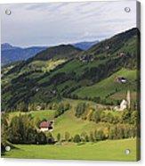 Val Di Funes Dolomites Italy Acrylic Print