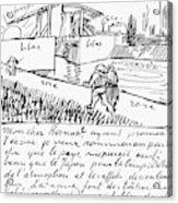 Van Gogh Letter, 1888 Acrylic Print