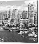 Vancouver Bc Downtown Skyline At False Creek Canada Acrylic Print