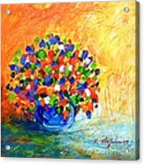 Vase With Flowers Acrylic Print