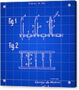 Velcro Patent 1952 - Blue Acrylic Print