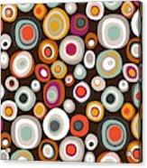 Veneto Boho Spot Chocolate Acrylic Print