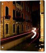 Venice At Night Acrylic Print