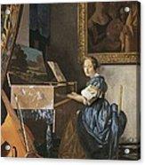 Vermeer, Johannes 1632-1675. A Young Acrylic Print