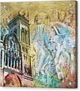 Vezelay Church And Hill Acrylic Print