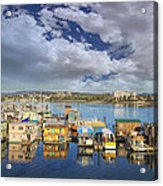 Victoria Bc Fishermans Wharf Acrylic Print