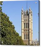 Victoria Tower And The Palace Of Westminster In London England Acrylic Print